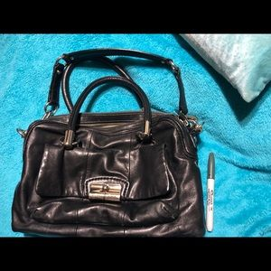 Authentic Black Leather coach bag